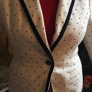 New blazer white with black dots